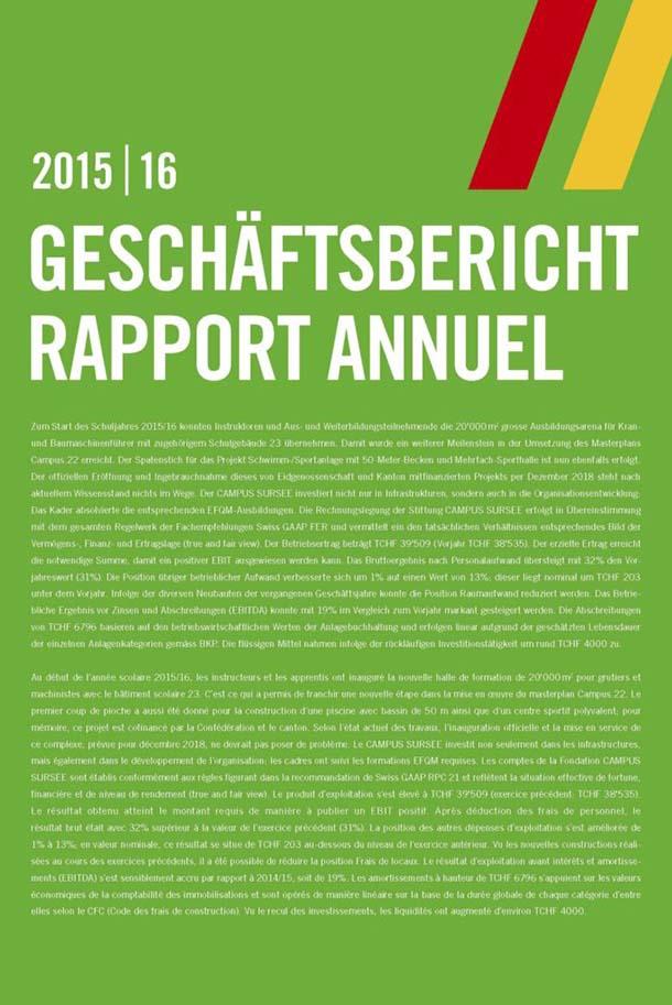 Geschäftsbericht 1516