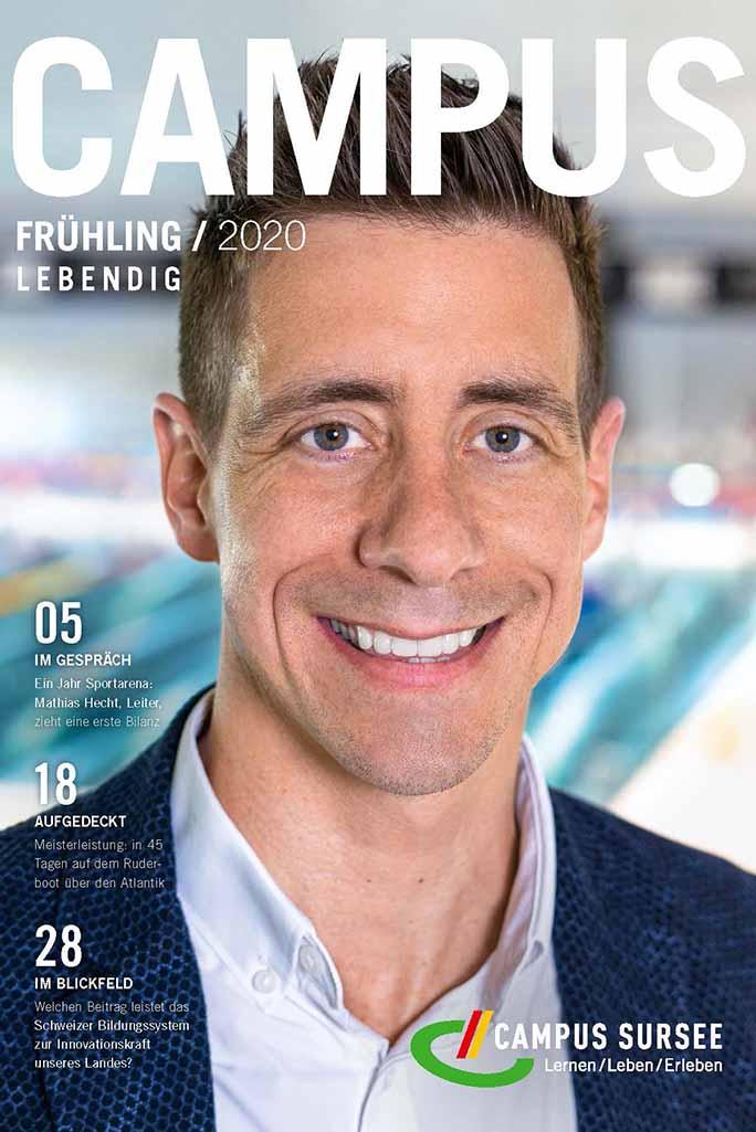 Titelseite CAMPUS Magazin Mathias Hecht