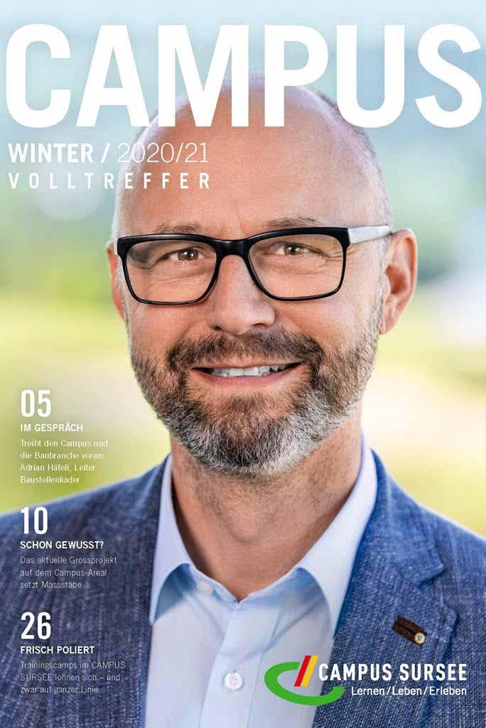 Titelseite CAMPUS Magazin Adrian Häfeli